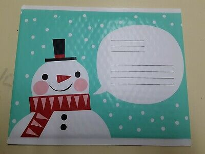 SNOWMAN Print pack of 24 Scotch 3M Bubble Mailer Padded Envelope 8.5 in x 11 in
