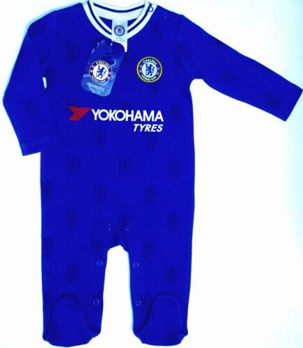 CHELSEA FC BABIES PRAM SLEEP SUIT BABY GROW BODY SUIT ROMPER 0-18 MONTH CFC