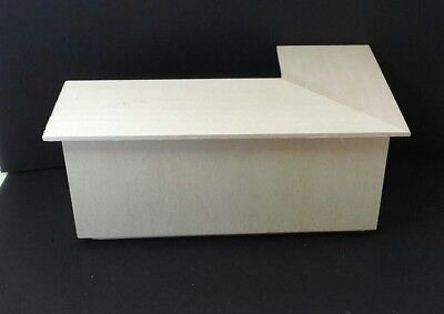 """Dollhouse Miniature 3/"""" x 6/""""  Wood Handcrafted Store left angled counter  1:12"""