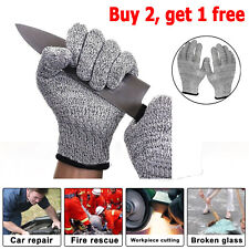 2pcs Protective Cut Resistant Gloves Level 5 Certified Safety Meat Cut Carving