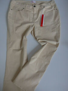 Sheego-Bootcuthose-Women-Pants-Size-42-to-58-Beige-Jeans-403-New