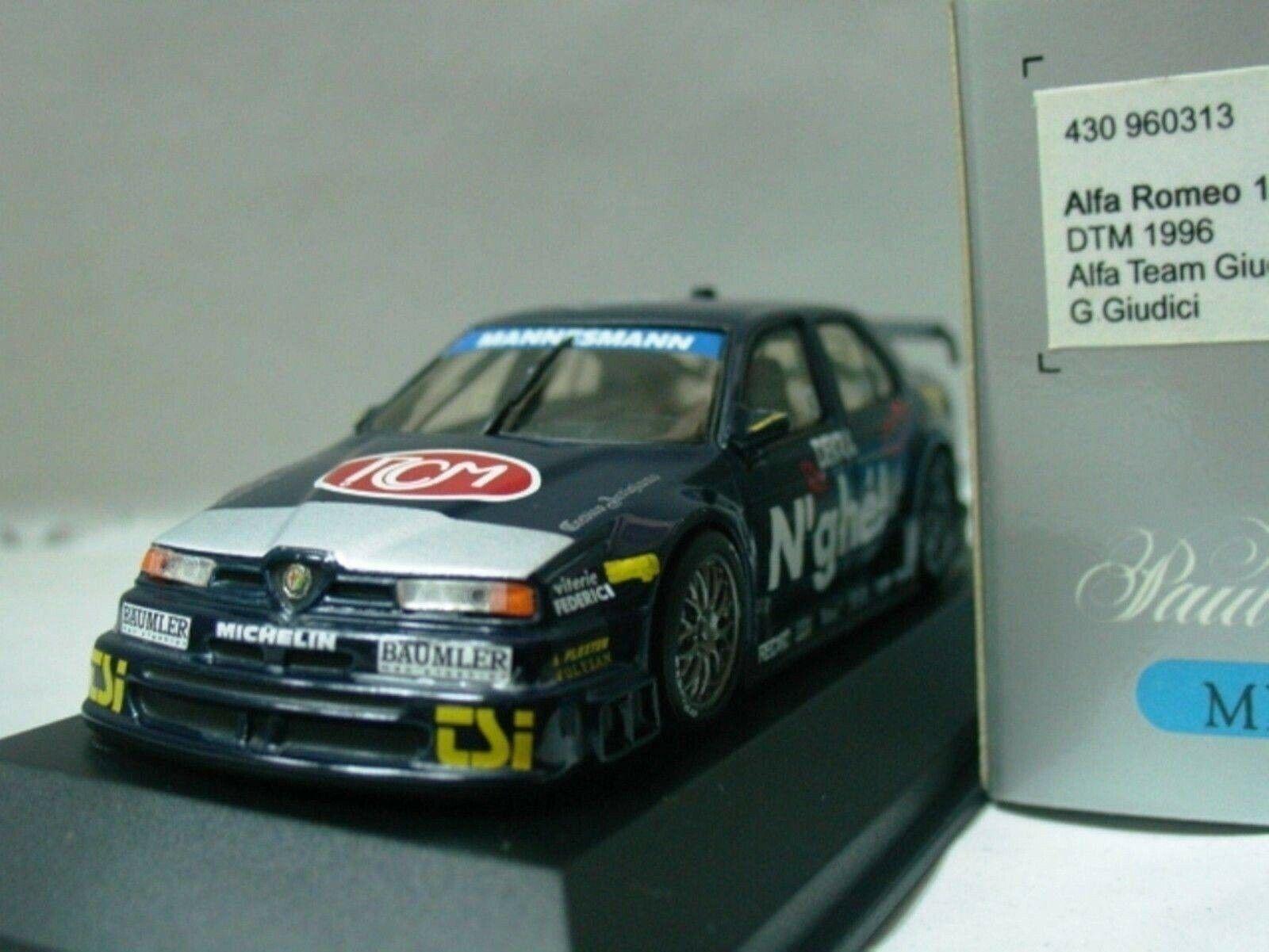 WOW EXTREMELY RARE RARE RARE Alfa Romeo 155 V6  DTM 1996 Giudici 1 43 Minichamps-ITC bb17a8