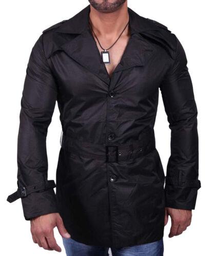 115 Giacca Impermeabile Cappotto Corto Nero Mis S-M-L-XL