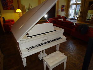 klavier fl gel perzina wei m hocker piano neu gestimmt konzertfl gel ebay. Black Bedroom Furniture Sets. Home Design Ideas