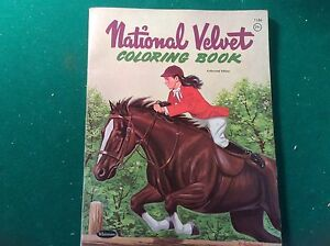 Vintage NATIONAL VELVET 1961 MGM Whitman Coloring Book #1186 | eBay
