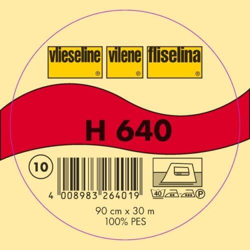 30m Freudenberg Vlieseline H640 Volumenvlies 90cm breit  H 640