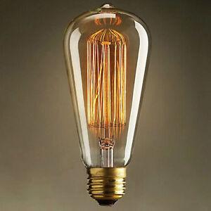 Superior Image Is Loading Pathson 40W E27 Edison Screw Antique Vintage Industrial
