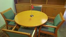 Brochstein Custom Built Maple Wood Conference Table With Paoli Chairs