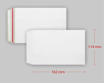50 x Strong C6 A6 Size ALL BOARD White Postal Mailing Envelopes 162x114mm