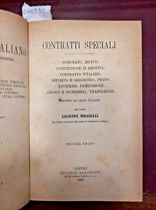 1901 - MIRABELLI. CONTRATTI SPECIALI.. Volume unico.
