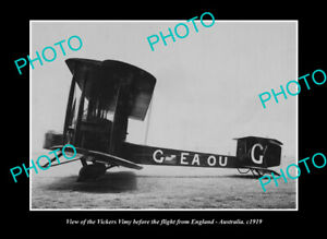 OLD-POSTCARD-SIZE-PHOTO-OF-VICKERS-VIMY-AIRCRAFT-AUST-to-ENGLAND-FLIGHT-1919-1