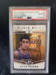 2017 Panini Donruss Optic Rookie Kings #25 Kyle Kuzma RC LA Lakers PSA 10 A96
