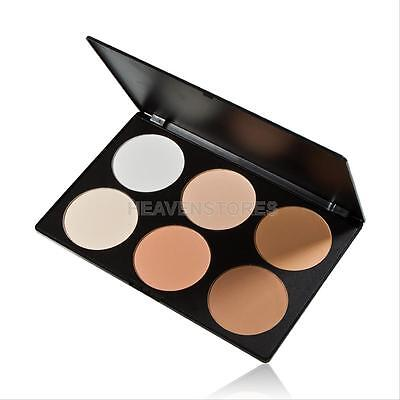 6 Colors Cosmetic Contour Pressed Nude Face Cheek Powder Makeup Blush Palette