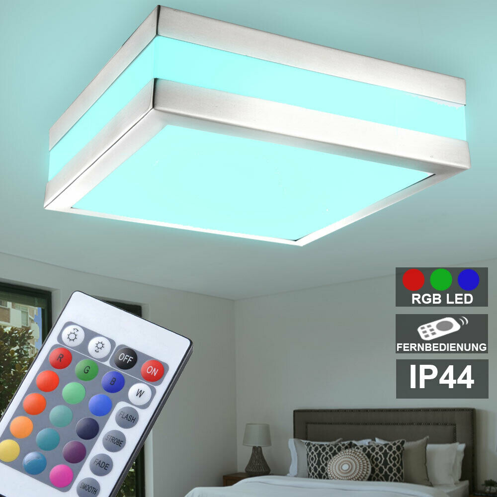 Color de iluminación de foco baño cambio de lámpara al aire libre del jardín regulable de techo del RGB LED