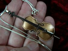 (M-13-C) CELLO String instrument pendant NECKLACE Jewelry I love Vuillaume strad