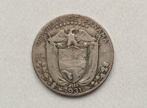 1931-Republic-of-Panama-1-4-Balboa-Silver-Coin-KM-11-1-D9953