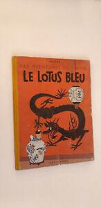 Album de TINTIN le lotus bleu B7 de 1952 en bon état
