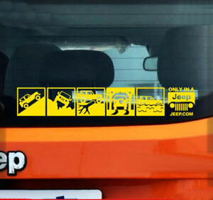 Graphic Vinyl Off Road Sticker Window Decal For Jeep