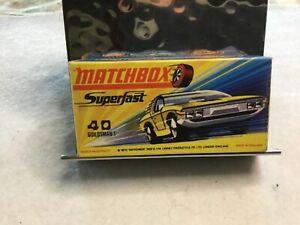 Vintage Lesney Matchbox Superfast Guildsman 1 no 40 caja sólo