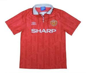 Manchester United 1992-94 Authentic Home Shirt (bene) M SOCCER JERSEY