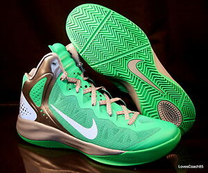 68d6b9cd7264 Nike Zoom Hyperenforcer PE Men s Basketball Shoes Lucky Green 487655 ...