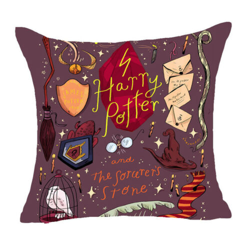 Cartoon Harry Potter Polyester Housse de Coussin Canapé Throw Pillow Case Home Decor