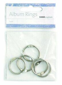 Kaisercraft-Album-Rings-5pk-2-5cm-Split-Hinged-Flip-Cards-Circle-Clip