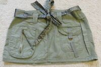 Girls Abercrombie & Fitch Army Green Cargo Mini Skirt With Belt Size 14 Cute