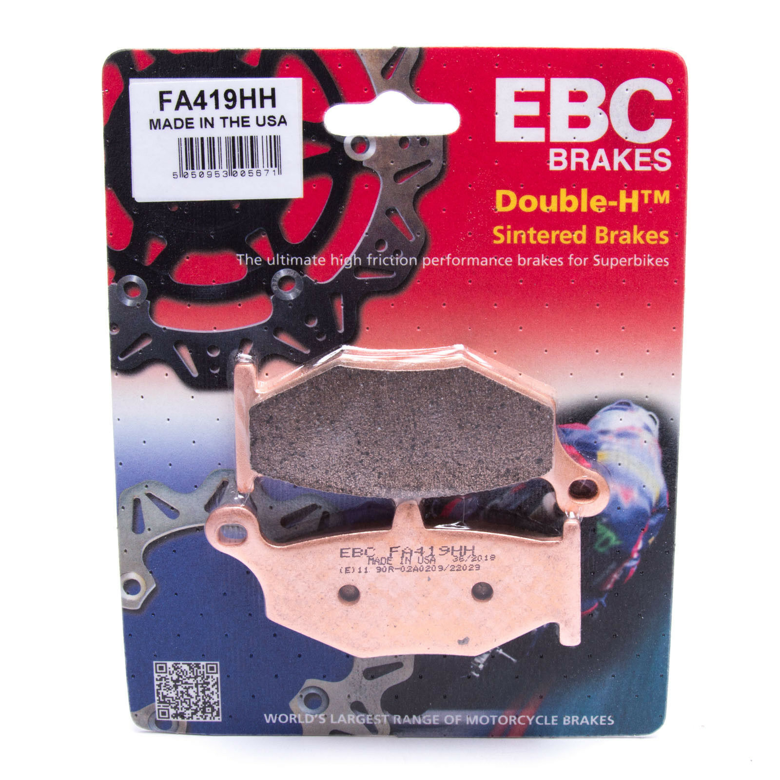 FA419HH Rear Sintered EBC HH Brake pads for SUZUKI GSXR GSXR1000     2007-08