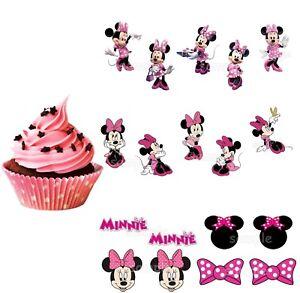 Details zu Minnie Maus Mouse Eßbar Tortenbild Muffinaufleger Tortenaufleger  Party Deko neu