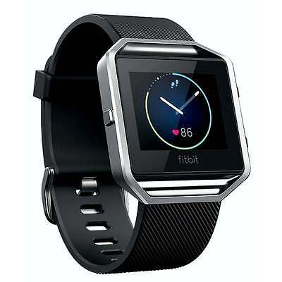 Fitbit Blaze Smart Fitness Watch Auto Sleep HR Activity Tracker Black Small