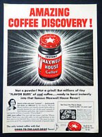 Vintage 1954 Maxwell House instant coffee advertisement print ad art