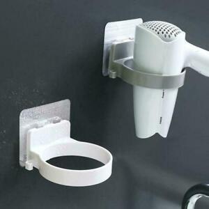 Wall-mounted-Hair-Dryer-Holder-Storage-Bathroom-Shelf-Hairdryer-Rack-Holder-Q8D9