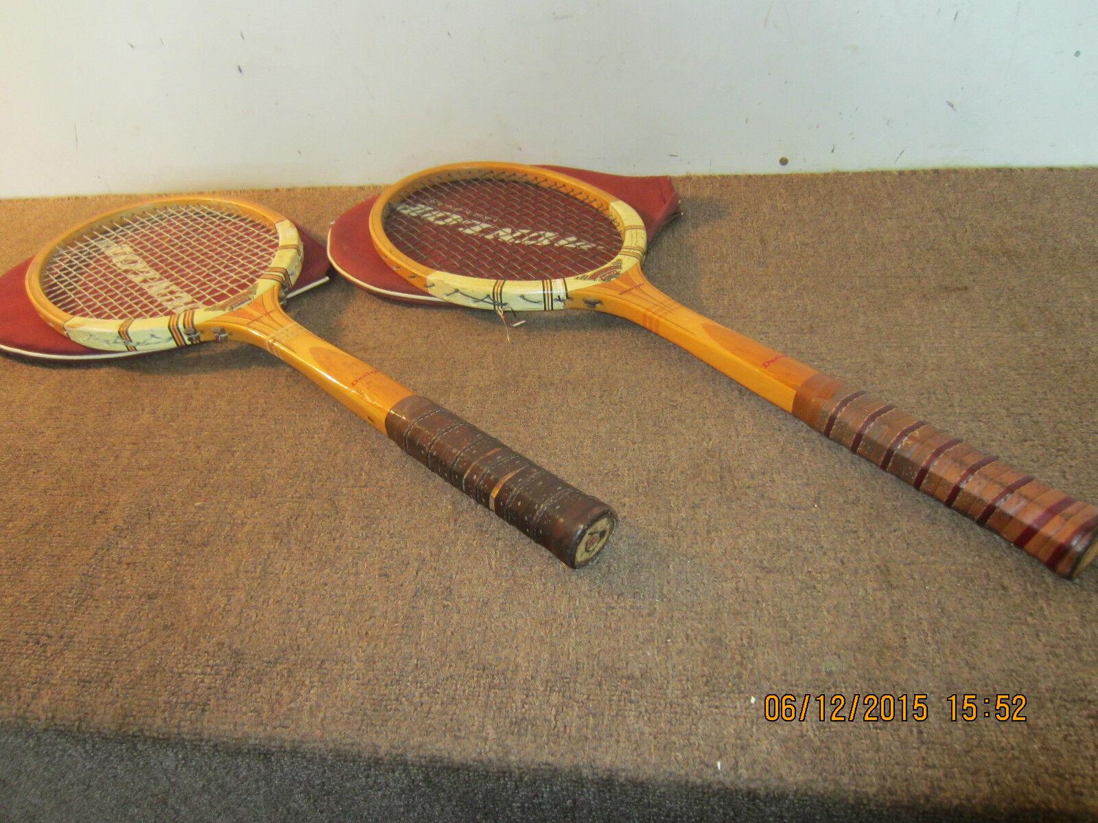 Par De, British 50's Dunlop Raquetas De Tenis