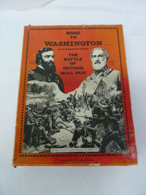 ROAD TO WASHINGTON BY COMMAND PERSPECTIVES VINTAGE BOARD WAR GAME