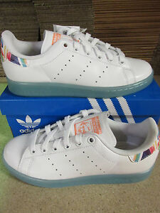 adidas Stan Smith, Sneakers Basses Femme - Blanc - White Sunglow BB4309, 37,5 EU EU 37 1/3