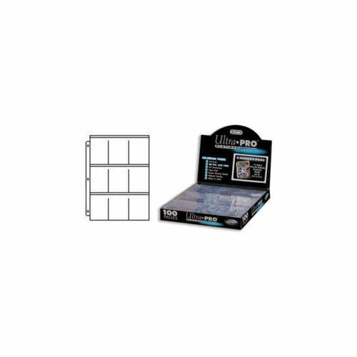 100 Fogli 9 Tasche per Raccoglitore ad Anelli Ultra Pro PLATINUM