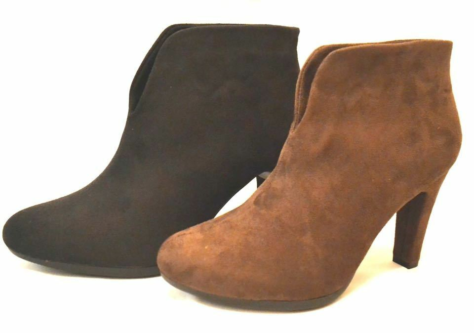 Black Brown cut out suede ankle boots