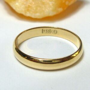 333-8K-Anillo-de-Oro-Compromiso-Alianza-Amarillo-Cinta-54-17-2-Mm