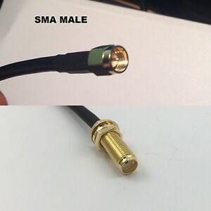 RG316 MMCX MALE ANGLE to RP-SMA Female Long Coaxial RF Cable USA-US
