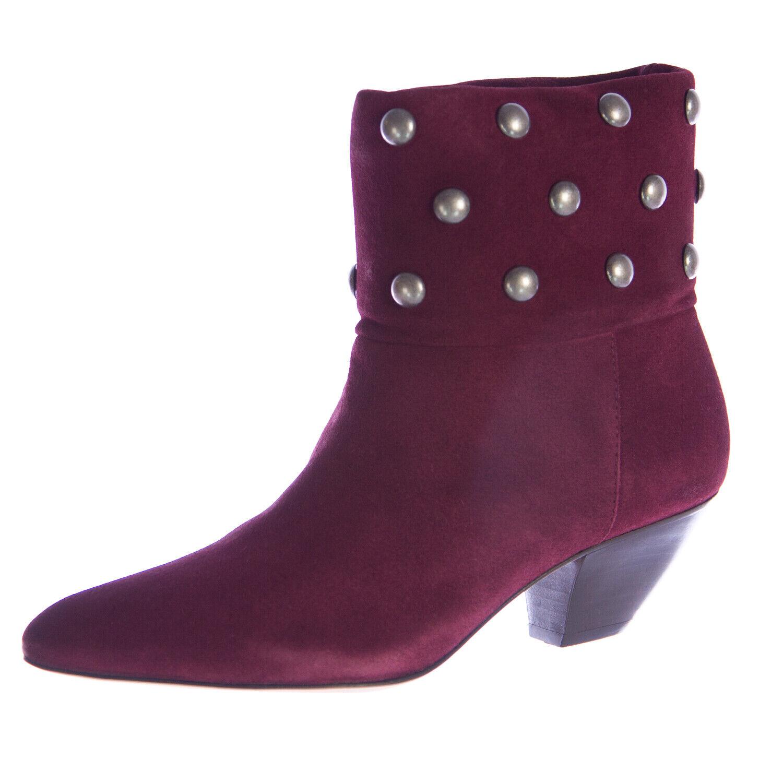 REBECCA MINKOFF Wouomo Coloreeado Deep rosso Suede  Heeled Ankle stivali Sz 7  325 NEW  acquista la qualità autentica al 100%