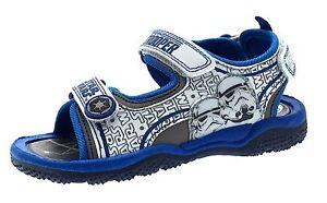 Boys Disney Star Wars Sandals Fully Adjustable Straps Storm Trooper Shoes Size