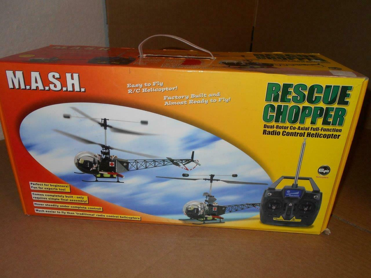 M.A.S.H. EF Helicopters RC Rescue Chopper In Box R16275
