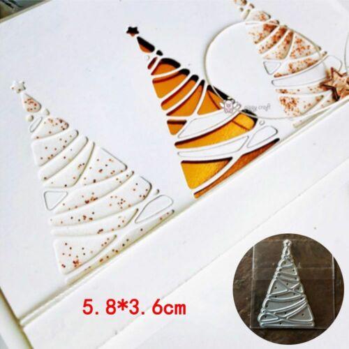 Christmas Tree Cutting Die Winter New Year Cutting Dies DIY Card Making Craft