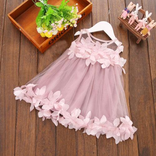 Newborn Infant Baby enfants filles princesse robe Parti robe Casual Robes 0-3Y Hot