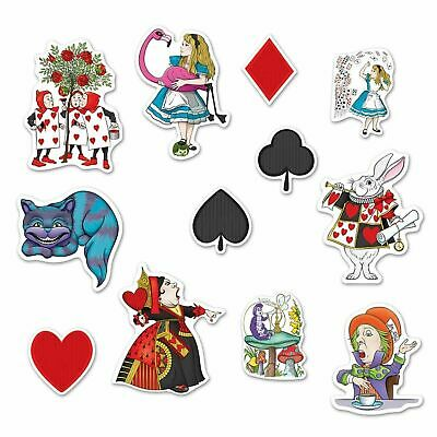 One Alice in Wonderland Cut Out Card Shape CHESHIRE CAT Tea Party Decor Prop