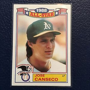 Details About 1989 Topps Glossy 6 Jose Canseco As 1988 All Star Mint