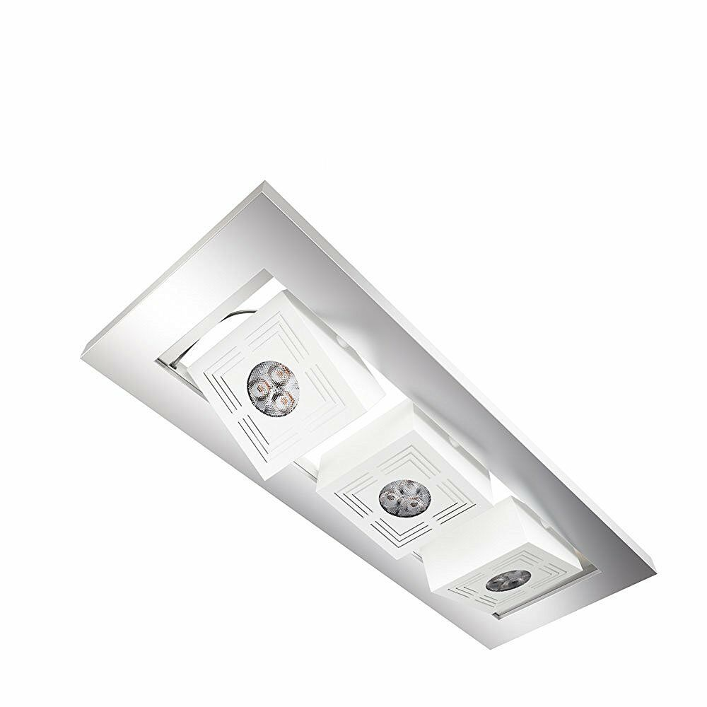 Osram Tresol ® Cube Trio Ceiling licht, High Power LED, CEILING-lampee 3x4,5w Aluminium
