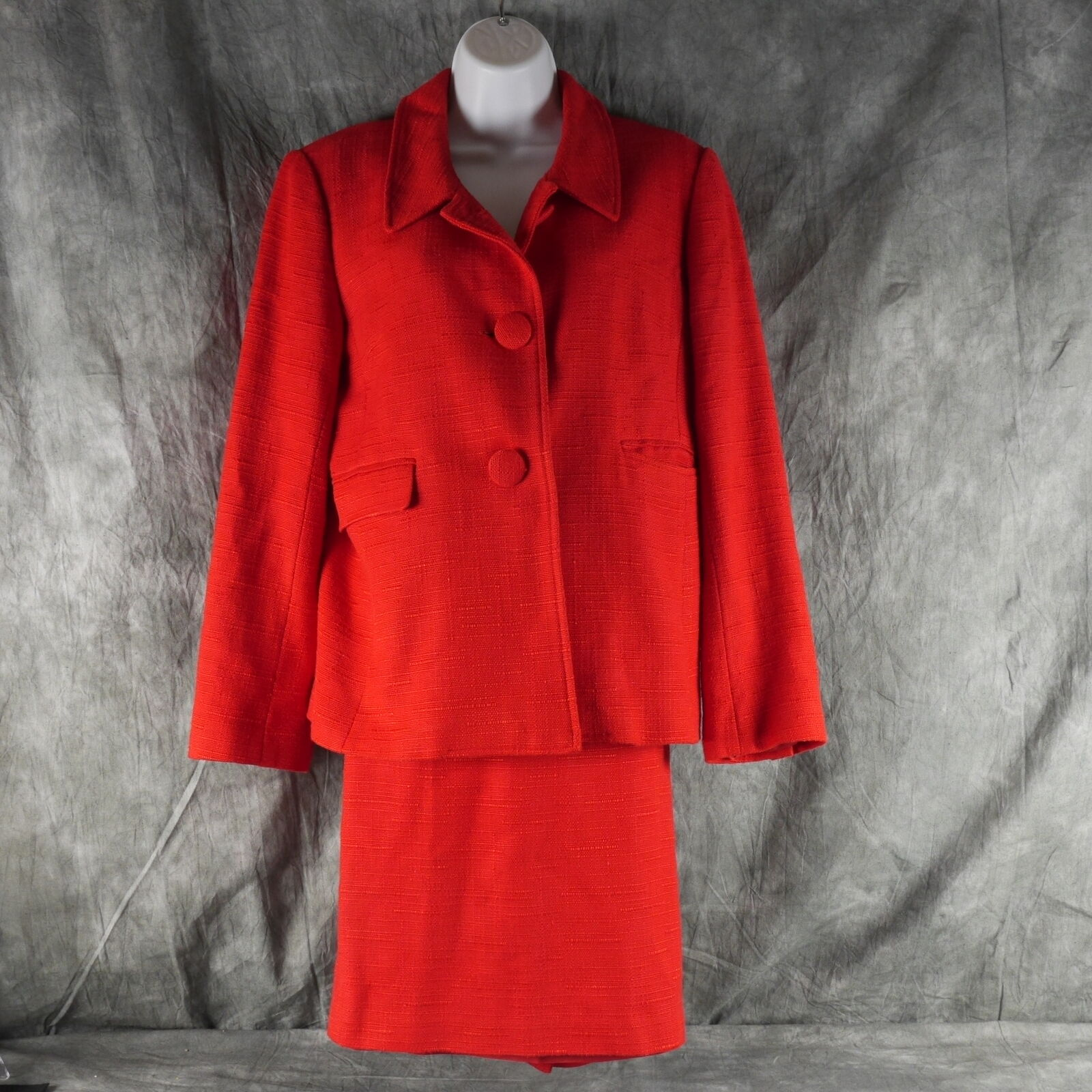 Sara Campbell Solid Red Suit Size 10 8 S1E1