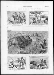 1874-Antique-Print-FAR-WEST-Miners-Meeting-Mulberry-Creek-Buffaloes-190